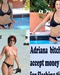 Adriana outdoor flashing boobs for money