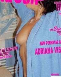 Adriana posing for porn magazine 3