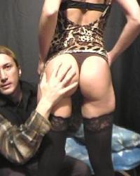 Italian brunette in porn casting