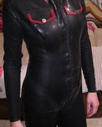 Latex Danielle army catsuit
