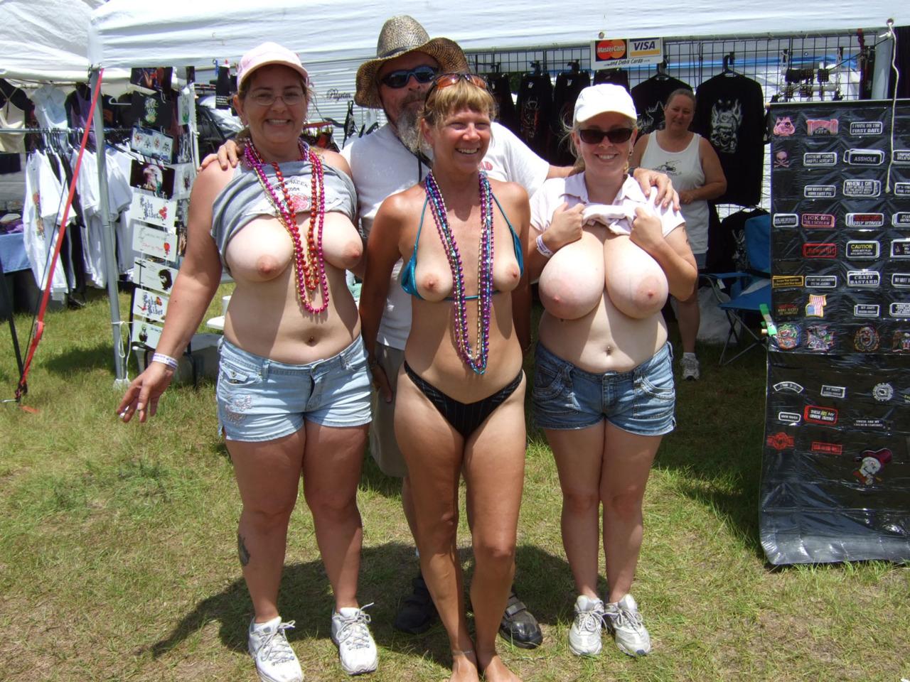 Slut with huge breasts public group sex
