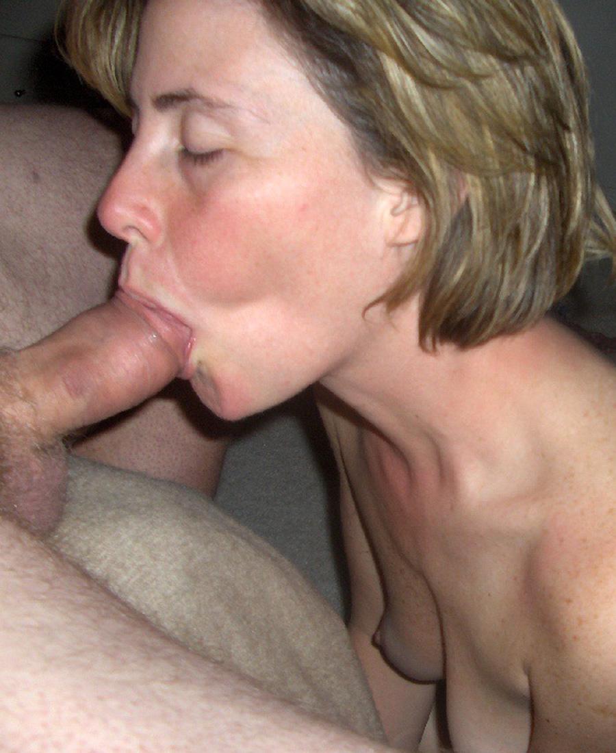 Cougar wife blowjob