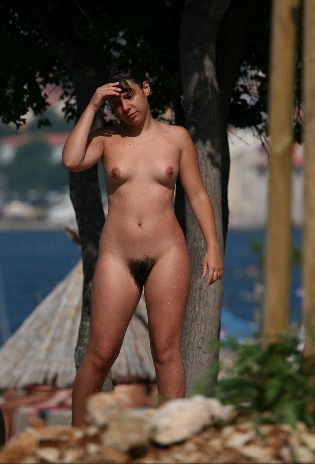 Nudist women with hair