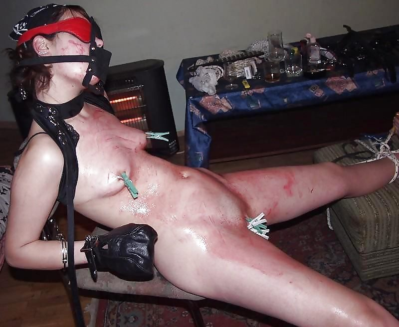Teen daughter bent over naked punished