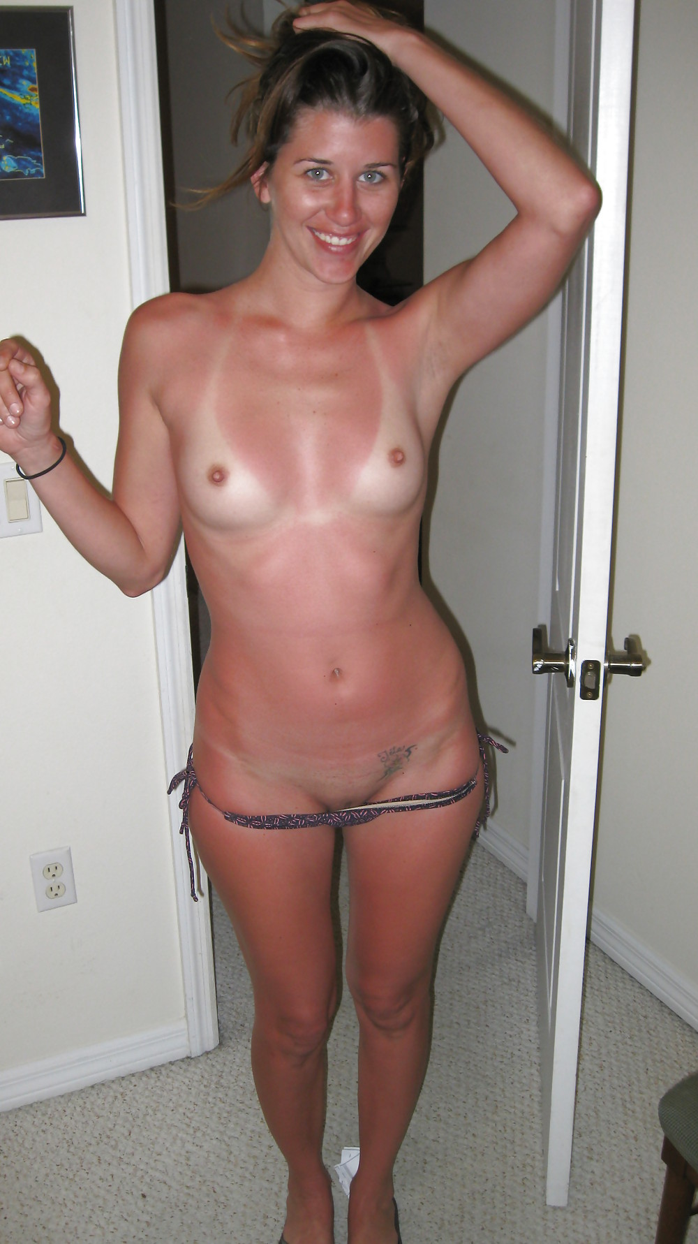 Tan line home nude