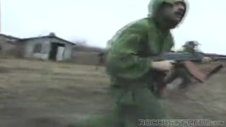 Brunette nailed by two  Soldiers