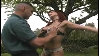 Hollywood slut gets pounded hard by 2 tough knobs  in all her slots external