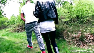 blonde milf hoe pounded in woods