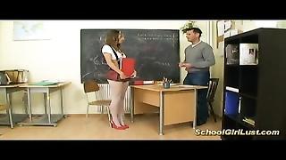 young buxom schoolgirl bangs her teacher