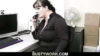 vast tramp is pumelled by future boss
