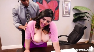 BBW latina Office whore Gets ravaged By Boss on Desk