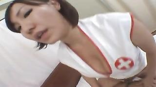 Japanese strapon nurse Ai (censored)