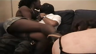 Black mistress with humiliated cuckold