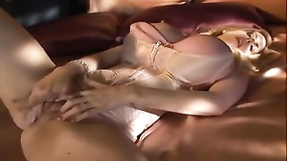 milf huge counterfeit juggs plays with her dildo