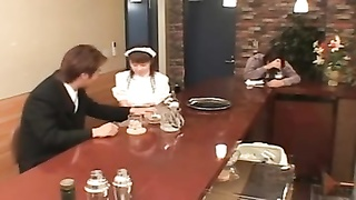 6028buxomy Japanese waitress screwed in public