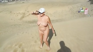 A prance in the dunes of Maspalomas Nude