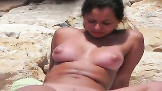 Nude Beach - suntan  bra-stuffers Tomorrow