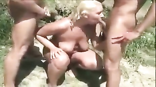 7636Nude Beach - amateur old MMF without a condom  Bi-Sex
