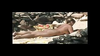 Nude mummy  on Beach BVR