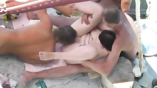Group hookup on the beach