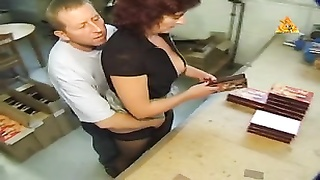 9023Heavy pierced MILF slave with lots pussy rings dominated