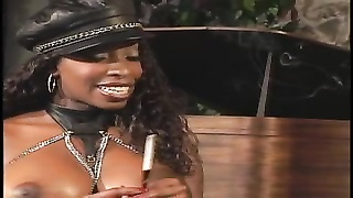 2 ebony mistresses teasing their slave