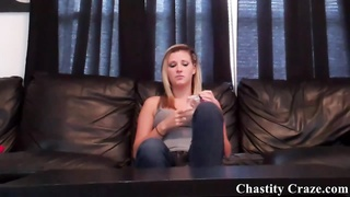 Dacy Lynn locking your prick in chastity