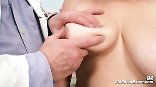 large melons mom gets her both holes properly checked