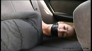 9652Outdoor caning with gagged Amy