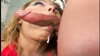 bad Kat gasping  on boner