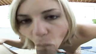 She enjoys to suck your prick POV