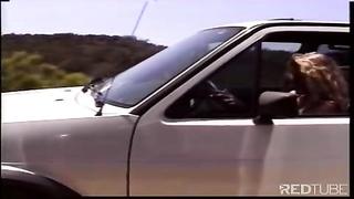 blondy beach bitch gets screwed by 2 bikers