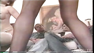 Classic striptease anal plunging