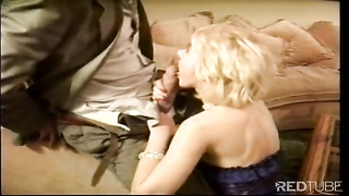 steaming blonde cunt drilled vintage style by Rocco