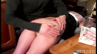 accurate spanking in the kitchen
