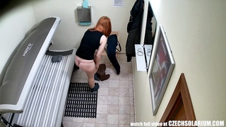 pretty teen RedHead dame with large casual T