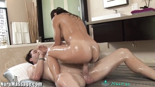 Nuru massage Jackie Lin's voluptuous  sliding rub