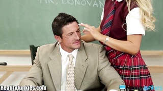 RealityJunkies whore Schoolgirl rides Teacher