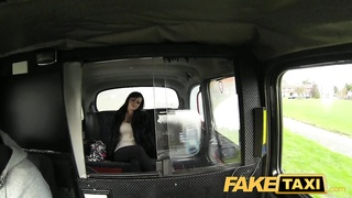 FakeTaxi -Busty brunette does it all for cash