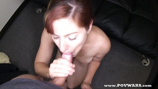 POV Wars steaming redhead gets pounded by 5 boys
