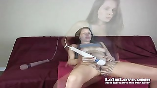 Webcam woman gets vagina slurped then trims  legs in bathtub