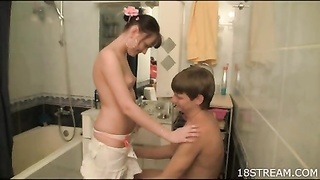 little hooter teen pulverized in the bathroom