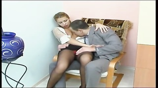 hookup in the office with Russian chick