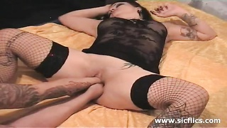 fierce ass-fuck  and vaginal fist fucked inexperienced bitch