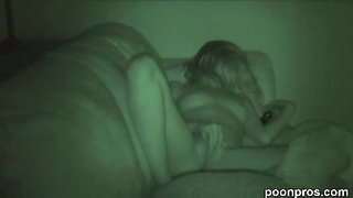 stroking doll  caught on spycam