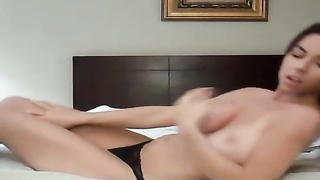 domestic alone female made a splendid video for her man