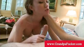 Madison scott enjoys her new old man pecker