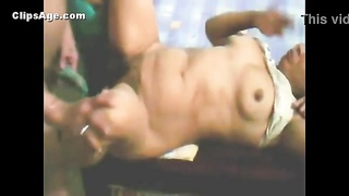 Indian wife Karunima getting torn up by boss MMS video