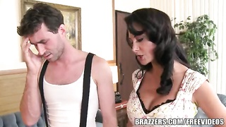 Brazzers - Ava Addams - 2 hungry throats  on His manstick