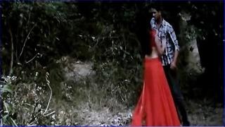 Desi college dame seducing youthfull  bf in park saree undress with telugu audio
